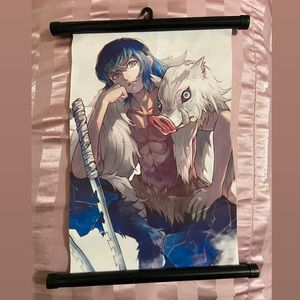 Demon slayer inosuke wall scroll